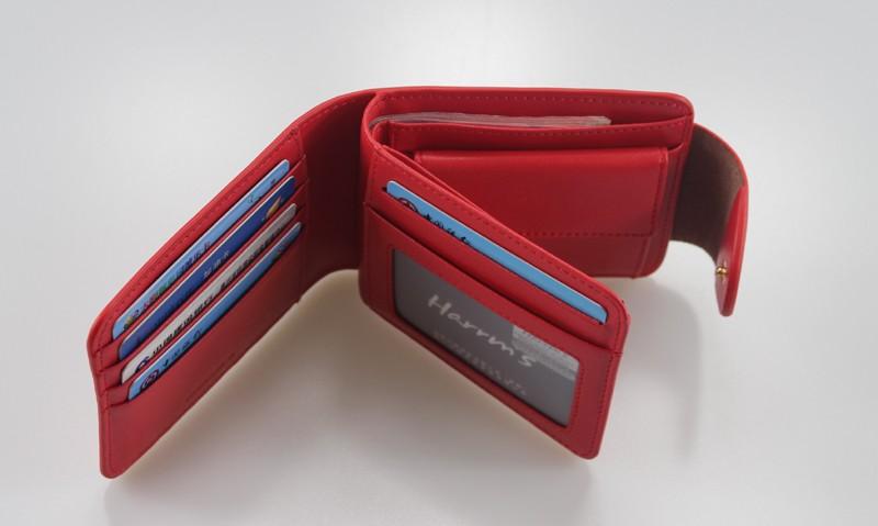HTB17Sg8LFXXXXbXXXXXq6xXFXXXg - Harrm's Brand Classical Fashion genuine leather women wallets short red blue Color female lady Purse for women with coin pocket