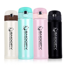 Snoopy Hot Thermo Mug Vacuum Cup Stainless Steel thermos Bottle Belly cup Thermal Bottle for water Insulated Tumbler For Car Co