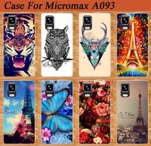 For Micromax Canvas Fire A093 Case,High Quality 14 Patterns Colored Tiger Rose  Soft Tpu Case For Micromax A093 Cover