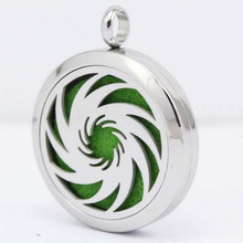Stailess Steel rotate design Perfume Lockets Pendant Aroma Essential Oil Diffuser Locket Necklace Pendant