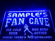 DZ065- Name Personalized Custom Football Fan Cave Bar Beer LED Neon Light Sign(China)