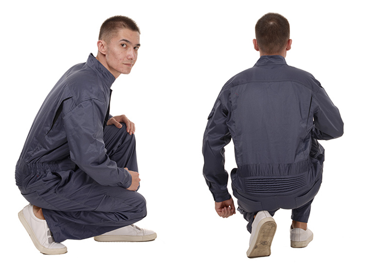 Work Overalls Long Sleeve Working Clothes Dustproof Auto repair Wear-resistant Coveralls Unisex Workwear Solid Color Uniforms (22)
