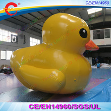 free shipping 3m/4m/5m/6m giant inflatable yellow promotion duck float in the lake,giant inflatable duck,big Inflatable toy duck(China)