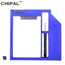 "CHIPAL 10pcs Plastic SATA 3.0 2nd HDD Caddy 9.5mm for 2.5"" SSD Case Hard Disk Drive Enclosure for Laptop DVD-ROM Optical Bay(China)"