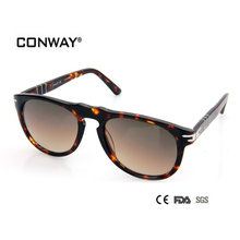 CONWAY Fashion Acetate Sunglasses Brand Designer Sun Glasses Men Design ladies sunglasses outdoor deal with CN0001S-DEMI-BROWN(China)