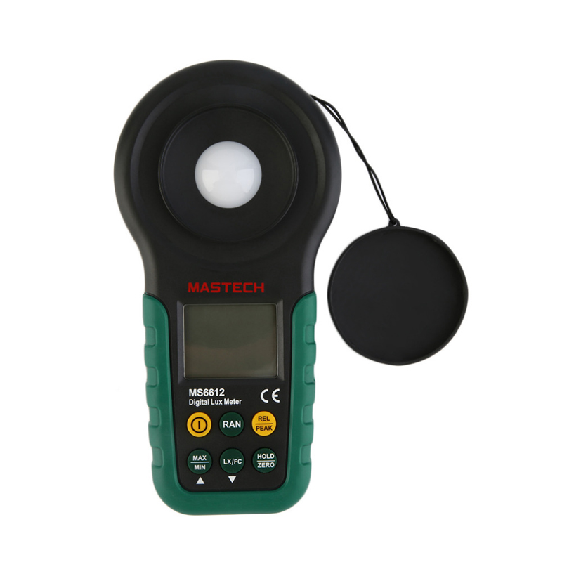 Mastech MS6612 Digital Lux meter Illuminometer Light Meter Foot Candle Auto Range Peak 200000 Lux<br>