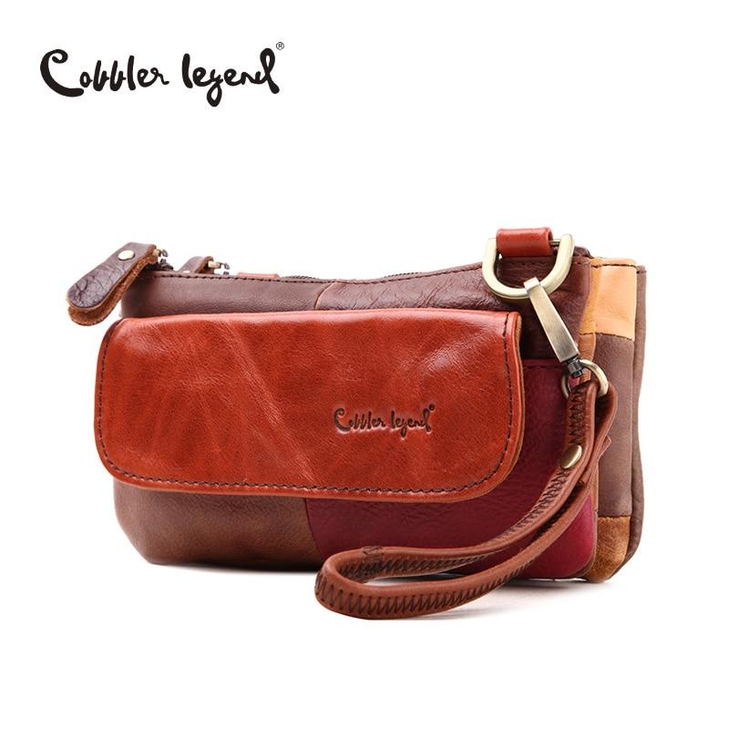 Cobbler Legend 2017 Fashion Brand Genuine Leather Soft Cowhide Leather Women Small Messenger Bag Wristlet Clutch Purse #208112-1<br><br>Aliexpress