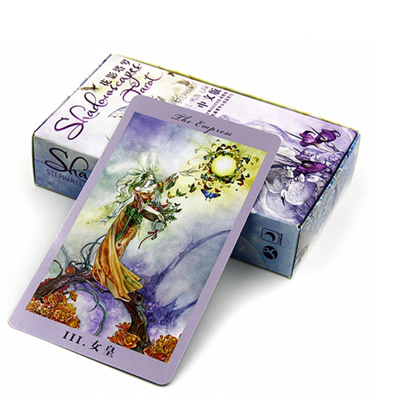 """Shadowscapes Tarot"" Board Game 78 PCS/Set Beautiful Cards Game Chinese/English Edition Tarot Board Game For Friends(China (Mainland))"
