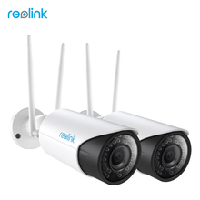 Reolink WiFi IP Camera 2.4G/5G 4MP Autofocus HD 4x Optical Zoom Wireless Cam w SD Card Storage RLC-411WS(2 cam pack)
