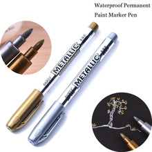 Hot Sale DIY Metal Waterproof Permanent Paint Marker Pens Manga Drawing Markers School Office Supply Stationery gift(China)