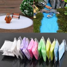 1 Bag Quartz Sand Fairy Garden Artificial Powder Mini Tree Snow Micro Landscaping Decoration Craft DIY Sand Table Accessories(China)