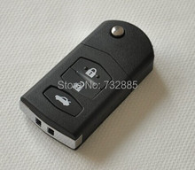 FOB Flip Remote Key Case For Mazda Remote Key Shells 3 Buttons For M2 M3 M5 M6 MX5 RX8(China)