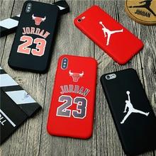 Air Jordan 23 Cover Case Iphone X Xs Max Xr 10 8 7 6 6s Plus 5 5s Se Soft Matte Silicone Phone Cover Bulls Sports Nba Coque