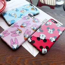Buy Silicone IMD Mickey Mouse Case iPhone 6 6s 7 8 Plus funda Pink Soft TPU Daisy Duck Cover Coque iPhone7 i7 7Plus Cases for $1.38 in AliExpress store