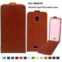 Flip Leather Mobile Phone Cases For fly iq4416 iq 4416 era life 5 life5 Holder Cover PU Case 14 Colors With Vertical Magnetic