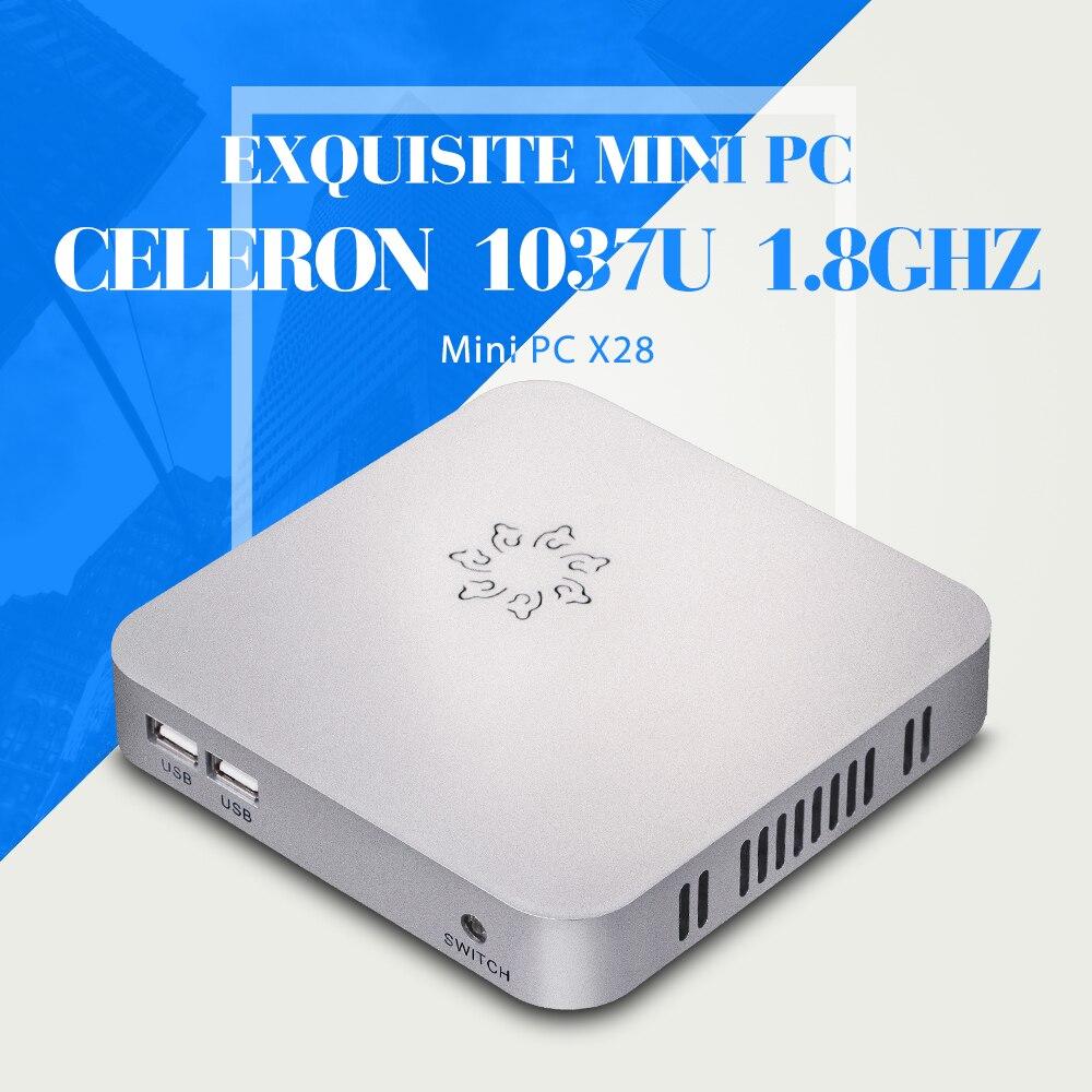 2015 MINI PC windows diy nettop lap top computer X28 C1037U just with wifi thin client mini desktop<br><br>Aliexpress