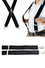 Mens Clip-on Suspenders 50mm Y-Shape Adjustable Durable Braces New Fashion Solid Elastic Belts Straps Braces High Quality Hot(China)