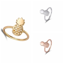 Jisensp 2017 New Fashion Cute Pineapple Rings Simple Funny Outline Fruit Rings Lovely Rings for Women Party Gift R142
