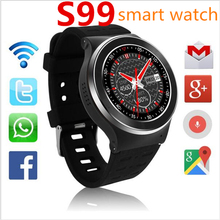 (In Stock) ZGPAX S99 3G Smart Watch Android 5.1 2.0MP Cam GPS WiFi Pedometer Heart Rate 3G Smartwatch PK KW88 No.1 D5 Q3 Plus(China)