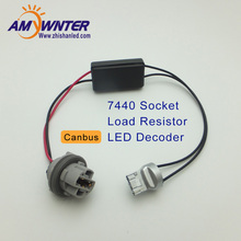 12V 7440 W21W T20 Canbus Error Free Resistor LED Decoder Warning Error Canceller For LED Bulb AMYWNTER(China)