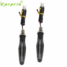 New Arrival 2PCS Motorcycle 12 LED Turn Signal Indicator Blinkers Light Amber Apl8 car-styling