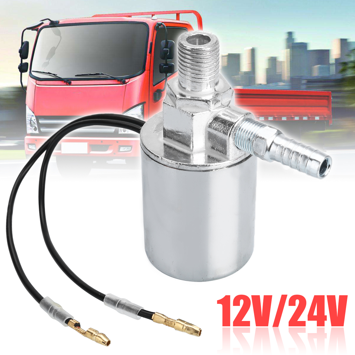 Air Horns Air Ride Systems Eurobuy 12V 1//4inch Metal Train Truck Air Horn Electric Solenoid Valve