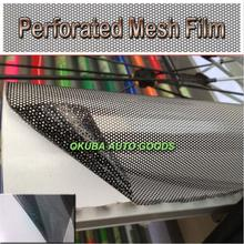Perforated Mesh Film Black Fly Eye One Way Vision Vinyl Window Tint Film
