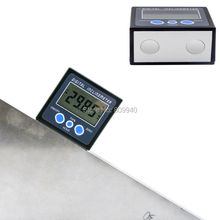 magnet digital protractor digital bevel box angle meter ruler Level Magnetic Base digital inclinometer with strong magnet base(China)