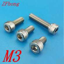 Buy 20PCS m3 socket cap head screw DIN912 stainless steel hex hexagon socket Allen Bolt m3*5/6/8/10/12/14/16/18/20/25/30/35/40 for $1.09 in AliExpress store