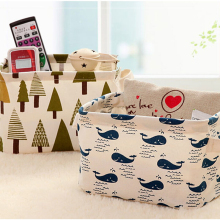 Cotton Linen Storage Box Office Desk Organizer Sundries Cosmetic Storage Basket Jewelry Stationery Container Holder Home Decor(China)