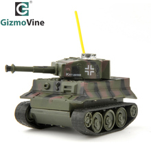 GizmoVine RC Tank 49MHz Remote Control Toys Battle RC Tanks LED Light Wireless RC Mini Tiger Tank Toys for Kids Children Gift