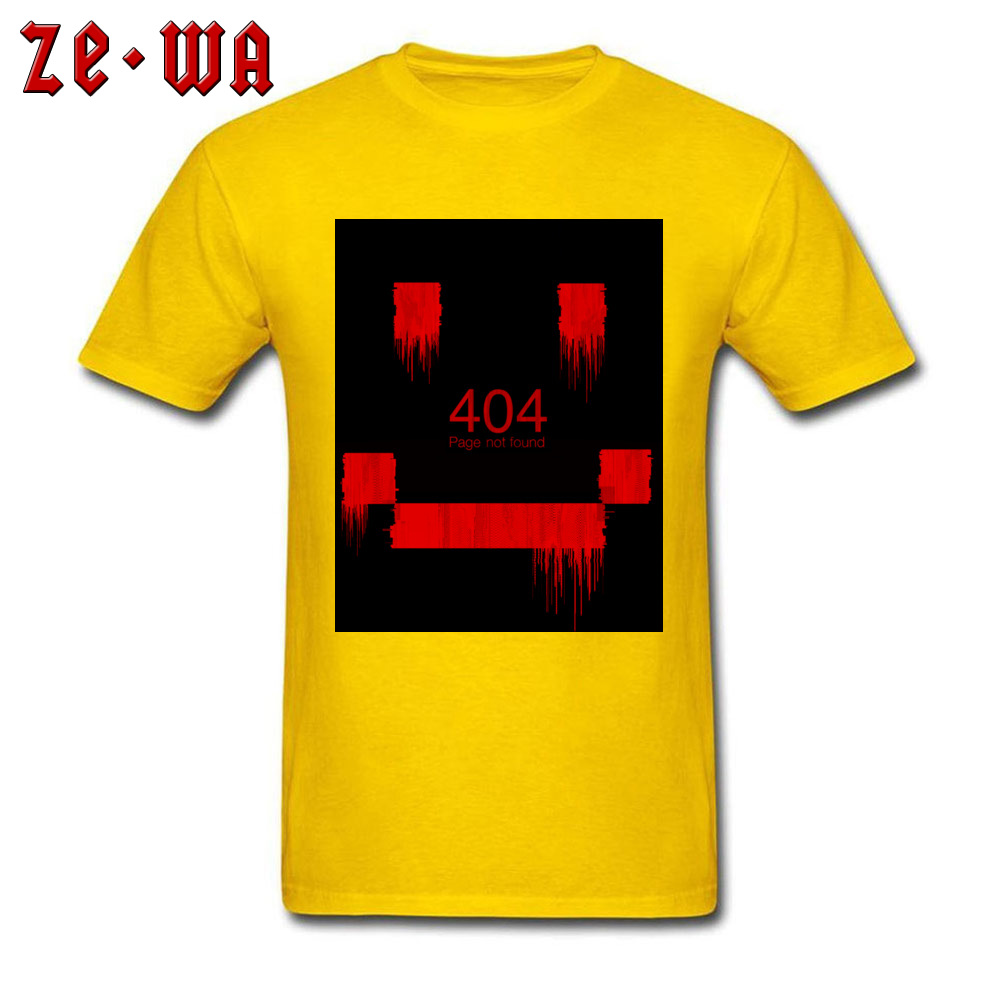 Men Top T-shirts An Error Has Occurred Normal Tops & Tees 100% Cotton Round Neck Short Sleeve Normal Tops Shirt Summer/Autumn An Error Has Occurred yellow