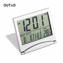 OUTAD 1pcs Calendar Alarm Clock Display date time temperature flexible mini Desk Digital LCD Thermometer cover Hot Search