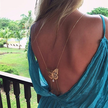 Fashion Body Jewelry For Women Sexy Alloy Chain Body Jewelry Beach Charming Resin Butterfly Shape Body Chains Wholesale C00541