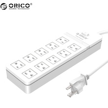 ORICO SPT-S10 Home office US Plug USB Travel Charger Adapter with 10 Outlet Power Strip Surge Protector(China)
