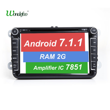 Android 7.1 7851 2 DIN CAR DVD GPS For Seat Altea Leon Toledo VW Passat POLO golf 5 6 touran passat B6 sharan RAM 2G ROM 32G