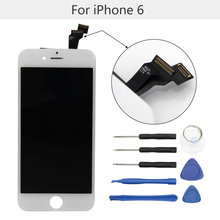 "High quality No Dead Pixel 4.7""LCD Screen for Apple iPhone 6 LCD display Touch Screen Digitizer replacement with free tool kits(China)"