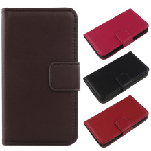 Exyuan Magnetic Buckle Mobile Phone Genuine Leather Case With Card Slot Cover For Apple iPod Touch 6G 4 Inch