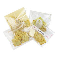 100pcs/lot 10*10cm hand made merry christmas plastic biscuit packaging bags cookies packing cake tools(China)