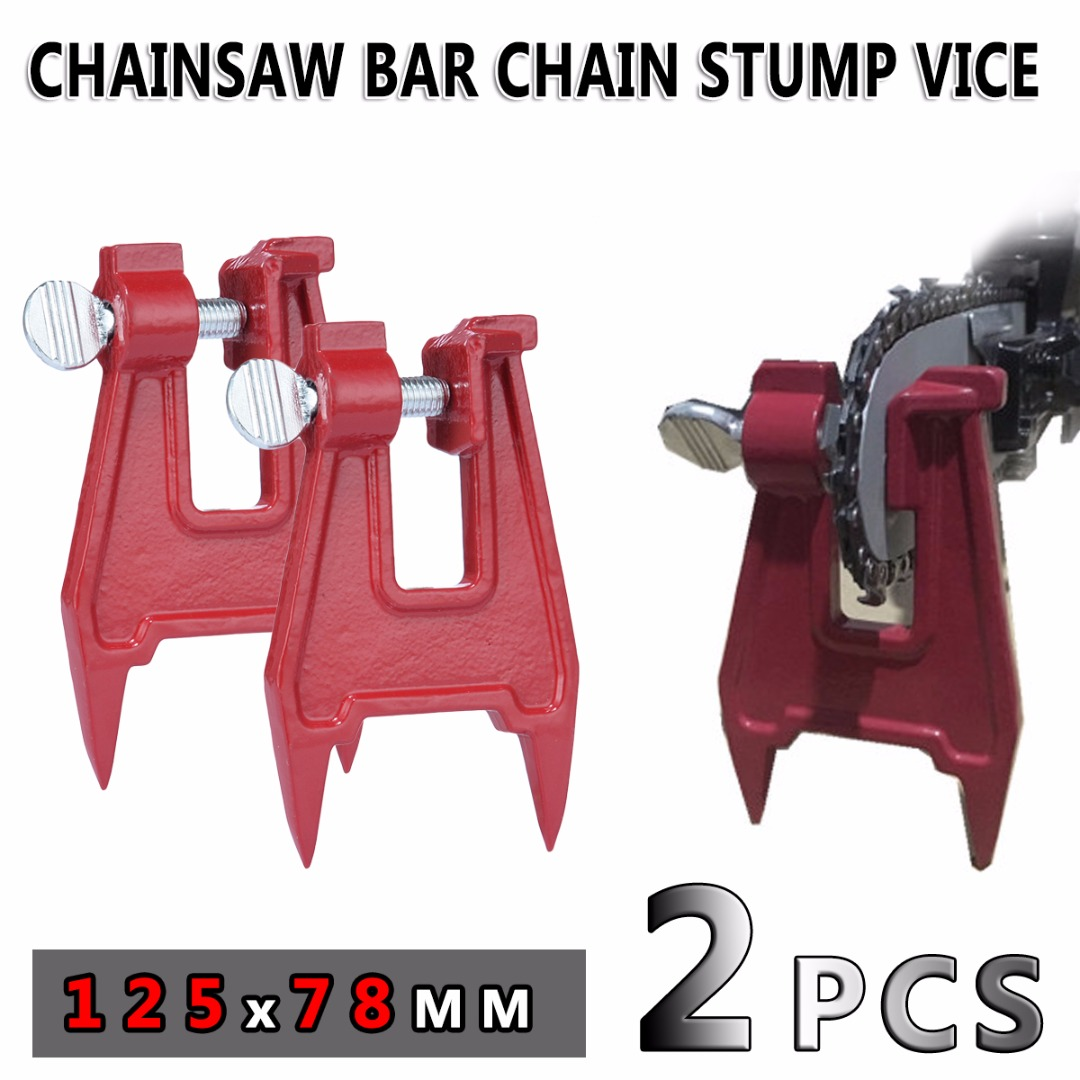 2pcs/set Chainsaw Bar Chain Stump Vice File Guide Sharpening Sharpener Fits All Makes Garden Tools 125x78mm<br>