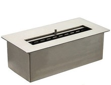 Bio ethanol fireplace stainless steel bio ethanol burner FDB25 with ceramic fiber inside(China)