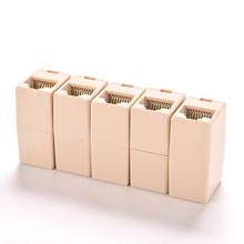1pcs RJ45 Cat5 8P8C Socket Connector Coupler For Extension Broadband Ethernet Network LAN Cable Joiner Extender Plug
