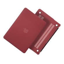 New Solid For Macbook Air 11 13 Pro Retina 13 15 New 12 Laptop Case Red Wine Matte PC For Macbook Pro Air 13 Laptop Case Cover(China)