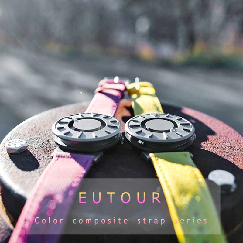 EUTOUR Women Watches Magnetic Ball Pointer Creative Ladies Watch Simple Fashion Pink Canvas Strap Wristwatches For Blind Person (3)