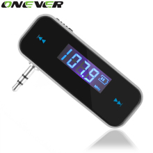 Mini Wireless  In-car Transmitter car mp3 Transmitter 3.5mm Music Audio FM Transmitter For iPhone 4 5 6 6S Plus Samsung iPad