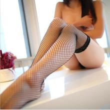 Solid Colors Lady Sexy Fishnet Lace Spandex Top Mesh Thigh High Stockings Knee Socks Long Tights Pantyhose Medias For Woman(China)