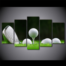 5 Panels Canvas Painting Oil Painting Wall Art Frame HD Printed Pictures Golf Balls Are Ready For Living Room Deco019(China)