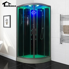 Free shipping 90cm White BLACK  Steam Shower massage Corner Cabin room Cabin hydro cubicle Enclosure glass walking-in saunaD09