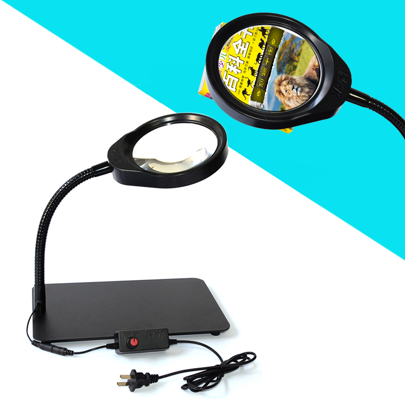 8X 10X 5X 36 LED Light Magnifier & Desk Lamp Helping Desktop Magnifying Tool Desktop Magnifying glass (4)