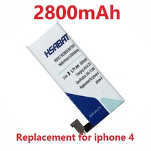 HSABAT 2017 2800mAh Battery for iphone 4 iphone4 free shipping + tracking number